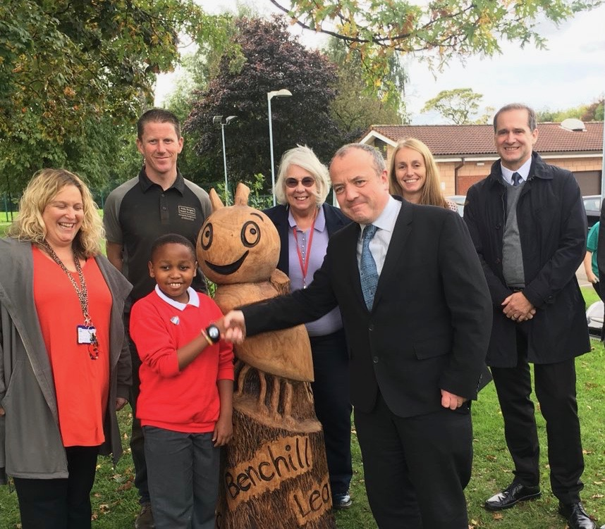 Local MP joins pupils at Benchill Primary School